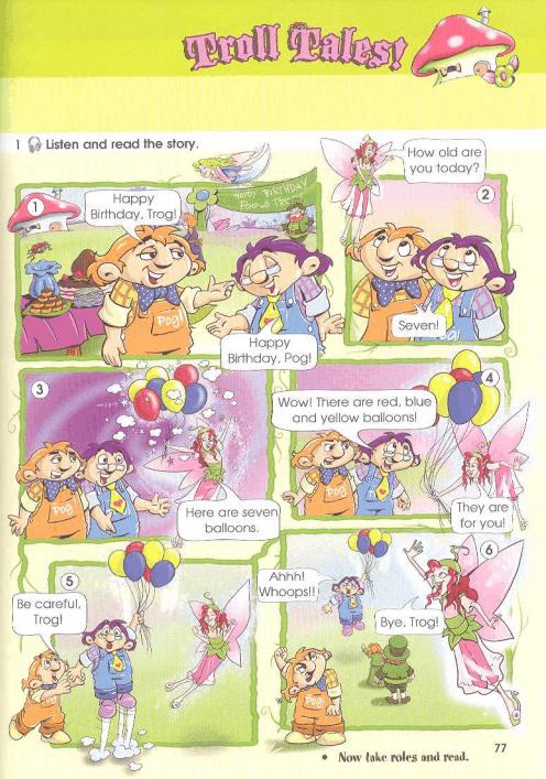 Упражнение 1 Troll Tales на странице 77 Starlight 3 Students Book Part 1