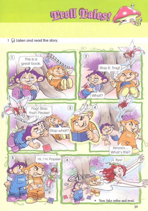 Упражнение 1 Troll Tales на странице 39 Starlight 3 Students Book Part 1.